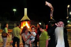 The anniversary of the death of Rabbi Shalom Iferg. NETIVOT, ISR - JUN 17:Jewish worshipper at the anniversary of the death of Rabbi Shalom Ifergan on June 17 Royalty Free Stock Images