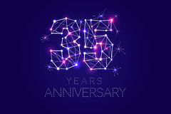 Anniversary design. Abstract form with connected lines and light Stock Images