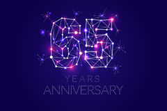 Anniversary design. Abstract form with connected lines and light Royalty Free Stock Photos