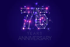 Anniversary design. Abstract form with connected lines and light Stock Photos