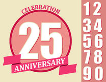 Anniversary Design set, Template celebration sign Royalty Free Stock Image