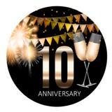 10 Anniversary emblem template design background. Vector Illustration. EPS10 Stock Illustration