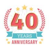 Anniversary Emblem Stock Photos