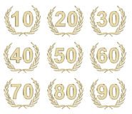 Anniversary Gold Stock Photography