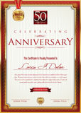 Anniversary golden banner Royalty Free Stock Photo