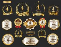 Anniversary golden laurel wreath Royalty Free Stock Photography