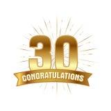Anniversary golden thirty years number Stock Photo