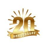 Anniversary golden twenty years number Stock Images