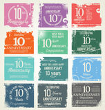 Anniversary grunge background, 10 years Royalty Free Stock Image