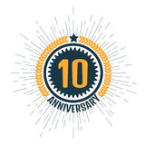 Anniversary 10, icon. Vector illustration Royalty Free Stock Photos