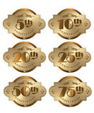 Anniversary Icons Stock Photos