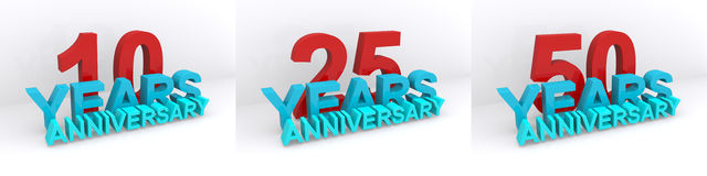 Anniversary icons  Royalty Free Stock Images