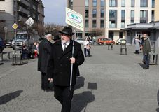 Anniversary of the Krakow Ghetto Liquidation - Remembrance March. Cracow. Cracow, Poland - March 11, 2018: The 75th Anniversary of the Krakow Ghetto Liquidation Stock Photography