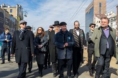 Anniversary of the Krakow Ghetto Liquidation - Remembrance March. Cracow. Cracow, Poland - March 11, 2018: The 75th Anniversary of the Krakow Ghetto Liquidation Royalty Free Stock Photo
