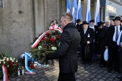 Anniversary of the Krakow Ghetto Liquidation - Remembrance March. Cracow. Cracow, Poland - March 11, 2018: The 75th Anniversary of the Krakow Ghetto Liquidation Stock Image