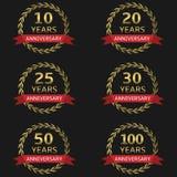 Anniversary label set Royalty Free Stock Image
