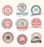 Anniversary labels Royalty Free Stock Images