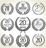 Anniversary laurel wreath design, 20 years Royalty Free Stock Photos