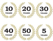 Anniversary Laurel Wreaths Royalty Free Stock Photos