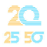 20 25 50 anniversary line number. Illustration for the web Stock Photos