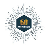 Anniversary logo 60th. Anniversary 60. Vector illustration Stock Images