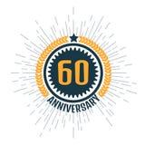 Anniversary logo 60th. Anniversary 60. Vector illustration Stock Photography