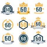 Anniversary logo 60th. Anniversary 60. Vector illustration Royalty Free Stock Photos