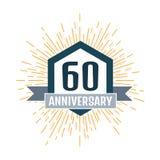 Anniversary logo 60th. Anniversary 60. Vector illustration Stock Photos