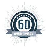 Anniversary logo 60th. Anniversary 60. Vector illustration. Anniversary logo 60th. Anniversary 60 Royalty Free Stock Photo