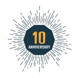 Anniversary 10 logo. Vector illustration. Anniversary 10 icon. Vector illustration Stock Images