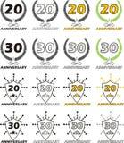 Anniversary 20 30. Logo of anniversary on white background Stock Photos