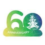Anniversary logo 60 year Royalty Free Stock Image