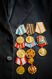 Anniversary medals of a victory in the War Royalty Free Stock Image