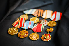 Anniversary medals of a victory in the War Stock Photos