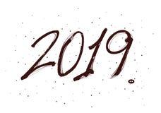 Anniversary, new year eve celebration 2019. Greeting card, Christmas invitation vector illustration