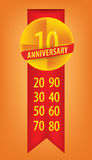 Anniversary with numbers set Royalty Free Stock Photography