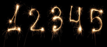 Anniversary numbers sparkler Royalty Free Stock Photo