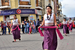 Anniversary Party For The Educational Unit in Otavalo, Ecuador stock images