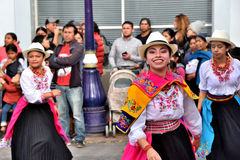 Anniversary Party For The Educational Unit in Otavalo, Ecuador Stock Photo