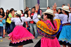 Anniversary Party For The Educational Unit in Otavalo, Ecuador Royalty Free Stock Photos