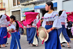 Anniversary Party For The Educational Unit in Otavalo, Ecuador Royalty Free Stock Image
