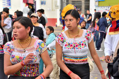 Anniversary Party For The Educational Unit in Otavalo, Ecuador Royalty Free Stock Photography
