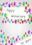 Anniversary poster, 50 years Royalty Free Stock Image