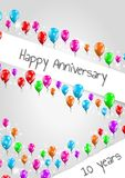 Anniversary poster, 10 years Royalty Free Stock Image