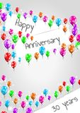 Anniversary poster, 30 years Royalty Free Stock Photography