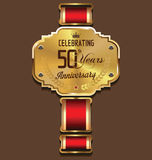 Anniversary retro background, 50 years Royalty Free Stock Photos