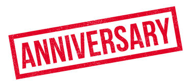 Anniversary rubber stamp Stock Photos