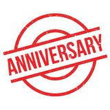 Anniversary rubber stamp Royalty Free Stock Image