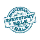 Anniversary sale rubber stamp Stock Photography