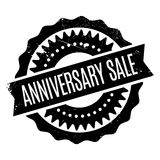 Anniversary Sale rubber stamp Stock Photo